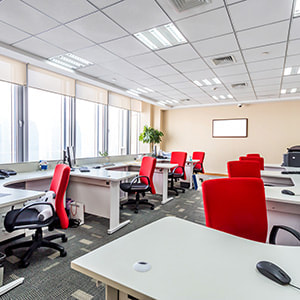 Photo of a clean open plan office
