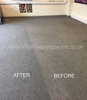Offcie carpet before and after cleaning